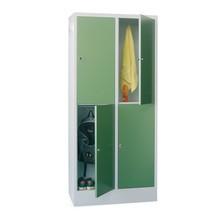 Locker PAVOY, 2 x 4 vakken, hxbxd 1.850 x 830 x 500 mm