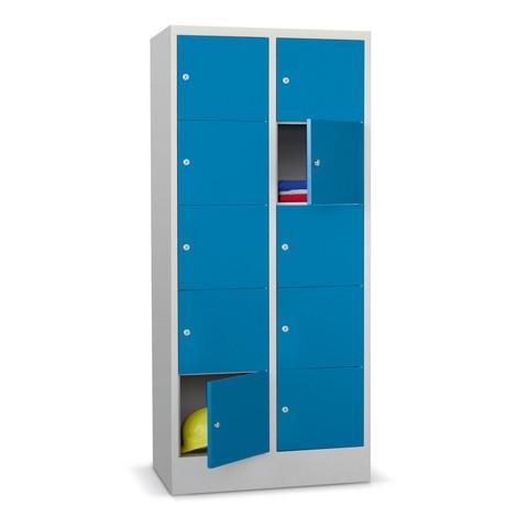 Locker PAVOY met cilinderslot, 2 x 5 vakken, hxbxd 1.850 x 630 x 500 mm