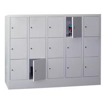 Locker PAVOY met cilinderslot, 5 x 3 vakken, hxbxd 1.187 x 1.530 x 500 mm