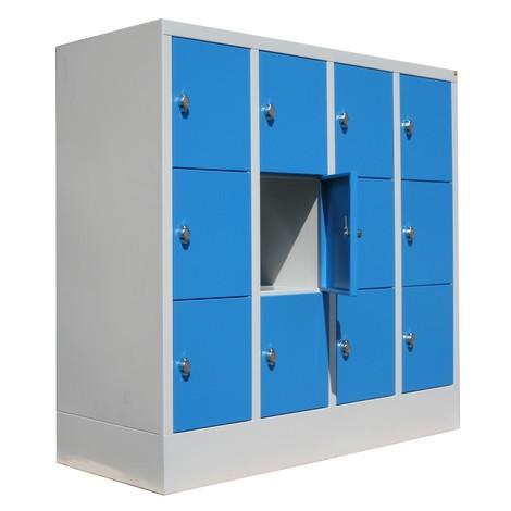 Locker PAVOY met draaivergrendeling, 4 x 3 vakken