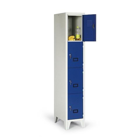 Locker Portofino met ventilatiegaten, 1 x 4 vakken, hxbxd 1.800 x 420 x 500 mm, met poten