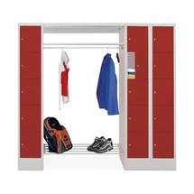 Lockerkast PAVOY, draaivergrendeling, 3 x 5 vakken, hxbxd 1.850 x 2.000 x 500 mm