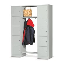 Lockers met garderobe BASIC. 10 vakken