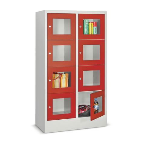 Lockers met zichtvenster PAVOY ® met 2 x 2 vakken, breedte 830 mm