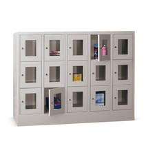 Lockers met zichtvenster PAVOY ® met 5 x 3 vakken, breedte 1530 mm