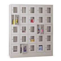 Lockers met zichtvenster PAVOY ® met 5 x 5 vakken, breedte 1530 mm