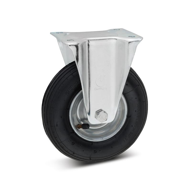 Luftbereifte Bockrolle, Stahlblechfelge, Tragkraft 75 - 300 kg