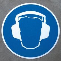 m2-Antirutsch-Bodenmarkierer – Gehörschutz tragen