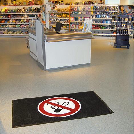 m2-Logomatte, Rauchen verboten, 900x1500mm, hoch/quer