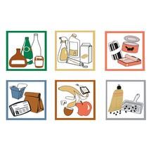 Mærkatsæt til affaldssorteringsbeholderen stumpf®