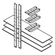 Magazijnstelling voor materiaalcontainer