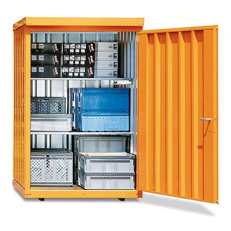 Magazinboxen aus verzinktem Profilblech mit Tür