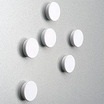 Magnete für Vitrinen. Ø 25 mm, weiß