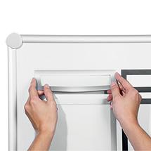 Magnetrahmen Duraframe® Magnetic Top, DIN A4, 2 Rahmenfarben zur Auswahl