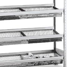 Mand niveau voor legplank SCHULTE met smalle mesh manden
