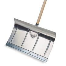 Manuelle Schneeschieber Aluminium-Schaufel, mit Stiel
