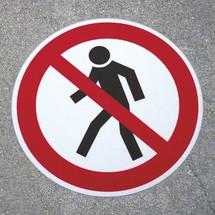 Marcatore da pavimento antiscivolo m2 – Passaggio vietato