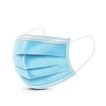 Máscara facial e proteção nasal, máscara descartável, não estéril