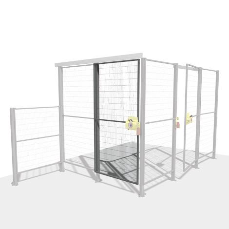 Maschinen-Schutzgitter, Türset SMART FIX, Flügel- oder Schiebetür