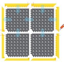 Mata podłogowa, system mat łączonych do stanowisk spawalniczych
