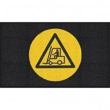 "Mata z logo Logomatte m2™ ""Achtung Stapler (Uwaga Wózek)"""