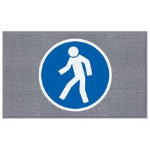 "Mata z logo Logomatte m2™ ""Für Fußgänger (Dla pieszych)"""