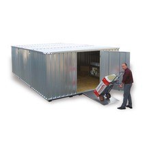 Materiaal container combinatie, verzinkt