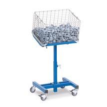 Materiaalstandaard fetra® kantelbaar met wielen.Capaciteit 150kg, hoogte 50-77cm