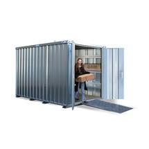Materialcontainer, förzinkad