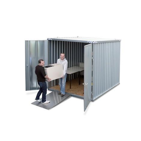 Materialcontainer, verzinkt