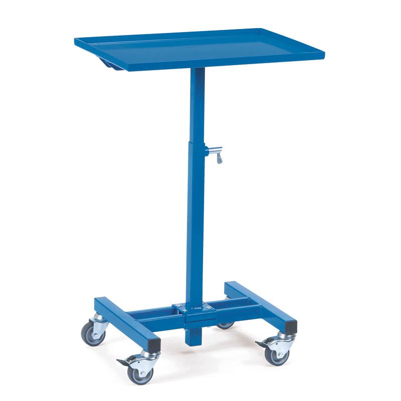 Materialständer fetra® mit Rollen. Tragkraft 150 kg, Höhe 72 - 97 cm