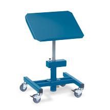 Materialständer fetra® neigbar mit Rollen. Tragkraft 150kg, Höhe 72-107cm