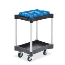 Mehrzweckwagen mit 2 Wannen aus Polyethylen. Höhe 95,3 cm