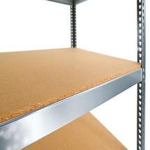 mellembund til bred-span rack SCHULTE, med spånplader