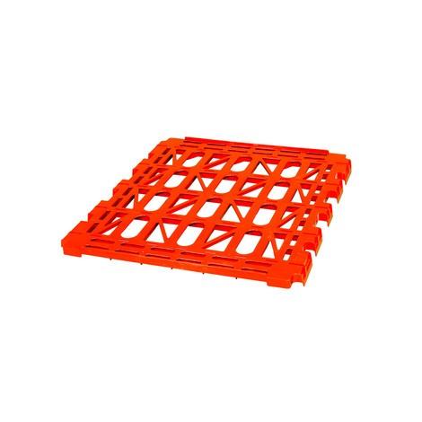 Mellemhylde af HDPE til 4-sidet rullebeholder, BxD 710 x 710 mm