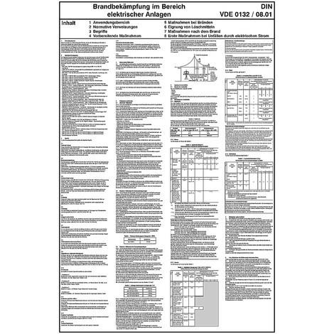 Merkblatt zur Brandbekämpfung, elektrische Anlagen, VDE 0132