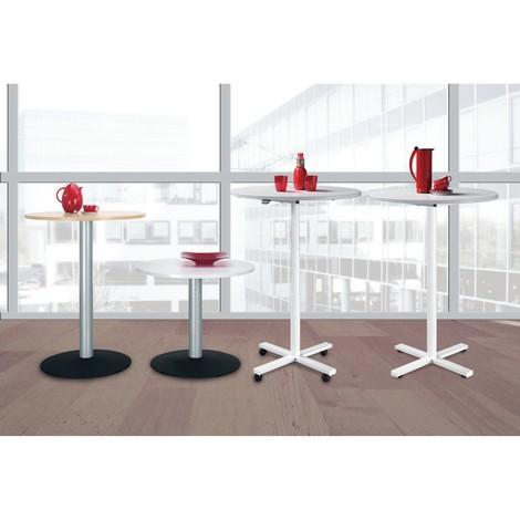 Mesa de columna con base de placa