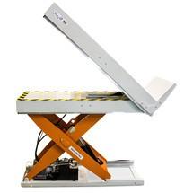 mesa de elevação em tesoura EdmoLift® com função de inclinação