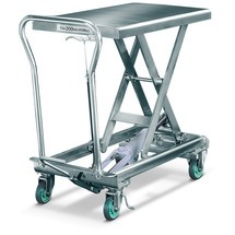Mesa de elevação móvel em tesoura de aço inoxidável