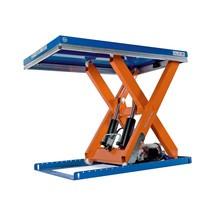 Mesa de elevação em tesoura EdmoLift® da série T, tesoura simples
