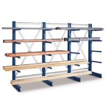 META cantilever rack, add-on unit, double-sided, shelf load up to 3500 kg