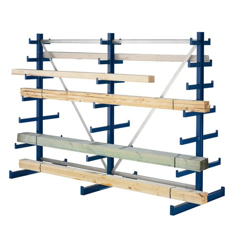 META cantilever rack, base unit, double-sided, load capacity 150 kg