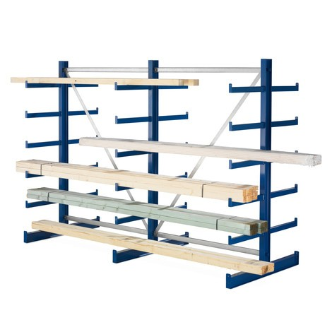META cantilever rack, base unit, double-sided, load capacity 200 kg