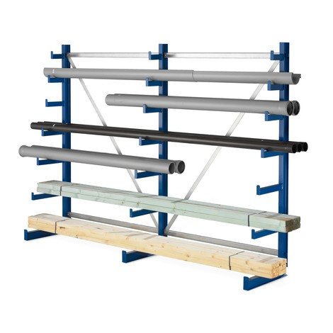 META cantilever rack, base unit, one-sided, load capacity 150 kg