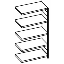 META filing shelf add-on unit, single-sided, with top shelf, galvanised