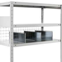 META shelf divider with safety bracket
