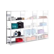 META shelf rack, boltless, add-on unit, shelf load 80 kg