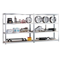 META wide-span rack, complete package, with chipboard, shelf load 500 kg
