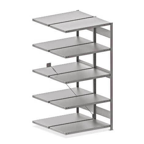 META wide-span rack, double-row, add-on unit, galvanised