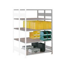 META wide-span rack, double-row, add-on unit, light grey